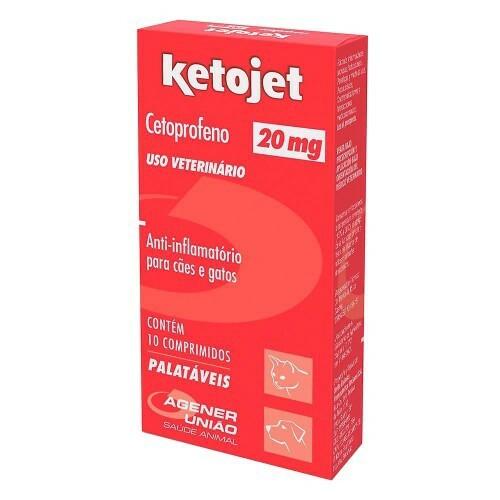 Anti-Inflamatório ketojet 20mg com 10 comprimidos