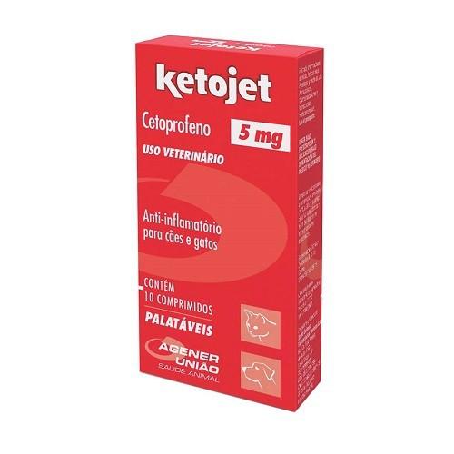 Anti-Inflamatório ketojet 5mg com 10 comprimidos