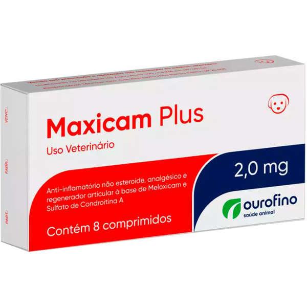 Anti-inflamatório Maxicam Plus 2.0mg com 8 comprimidos