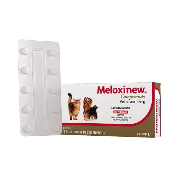 Anti-inflamatório meloxinew 0.5mg cartela avulsa com 10 comprimidos