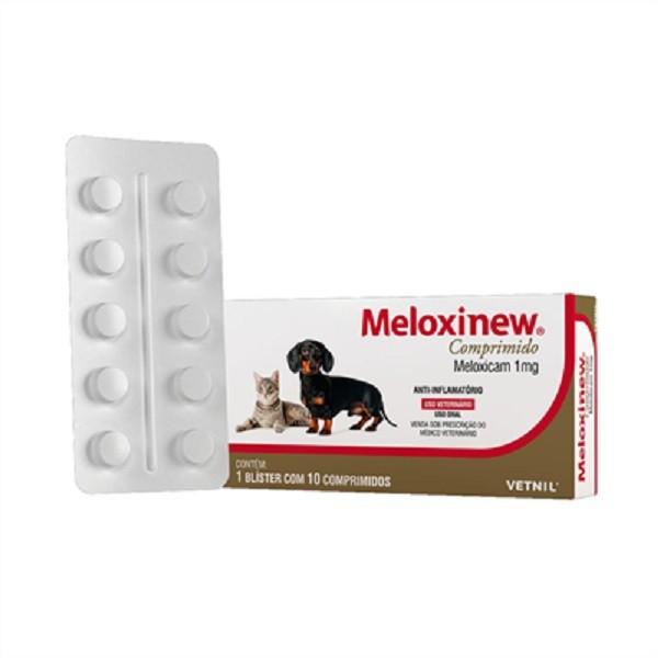Anti-inflamatório meloxinew 1mg cartela avulsa com 10 comprimidos