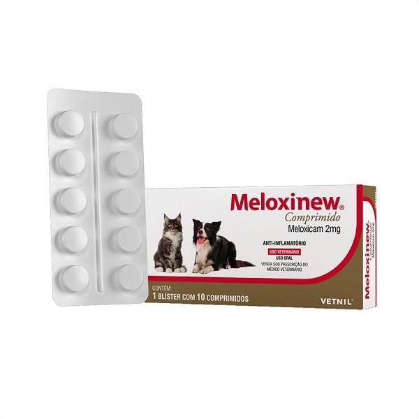 Anti-inflamatório meloxinew 2mg cartela avulsa com 10 comprimidos