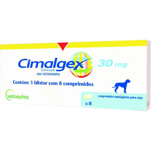 Anti-inflamatório vetoquinol cimalgex cimicoxib 30mg para cães com 8 comprimidos