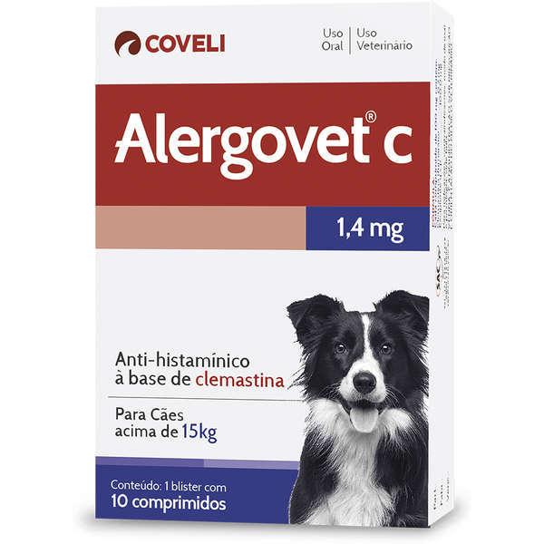 Antialérgico coveli alergovet c 1,4mg para cães