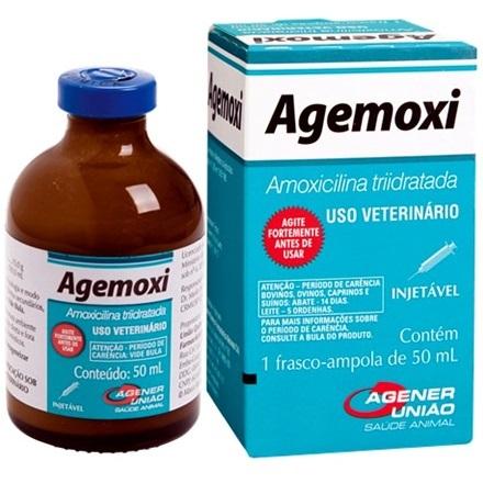 Antibiótico agener união agemoxi injetável 50ml