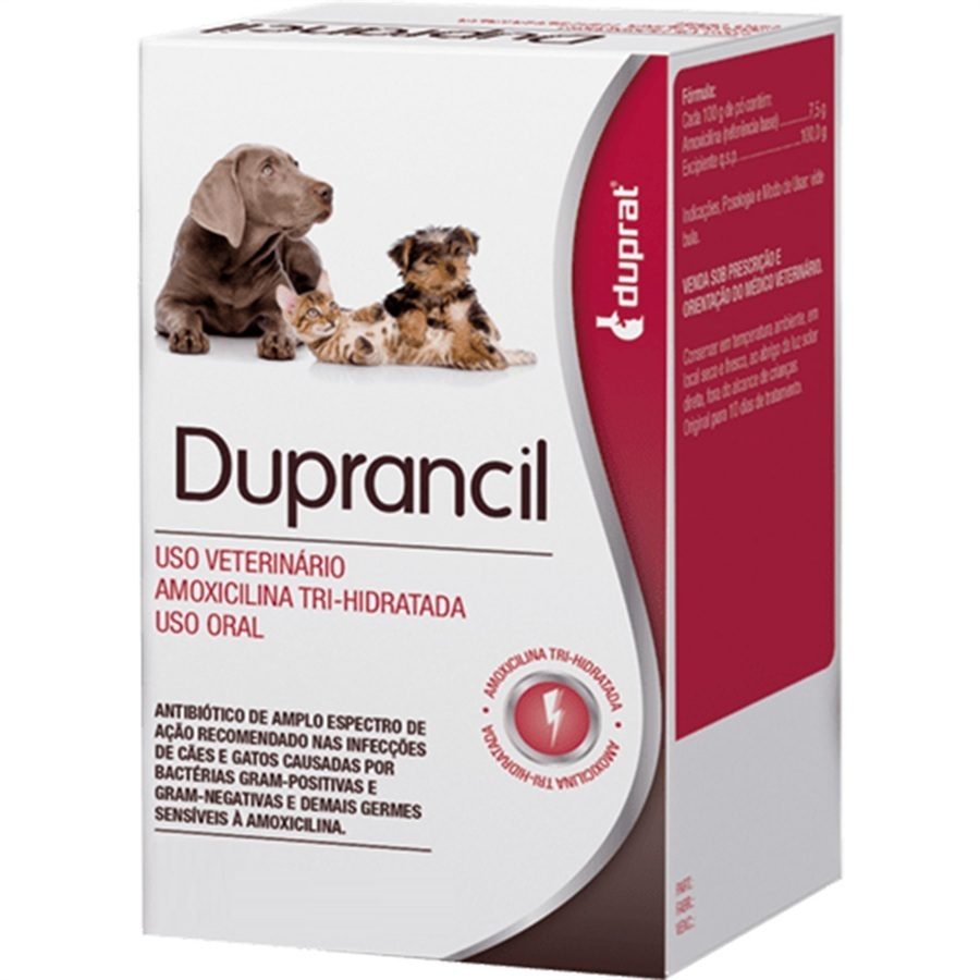Antibiótico Duprancil duprat amoxicilina oral em pó