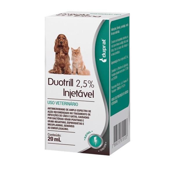 Antibiótico duprat duotrill 2,5% injetável 20ml