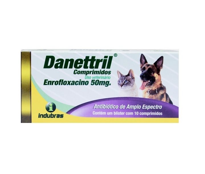 Antibiótico indubras danettril 50mg com 10 comprimidos