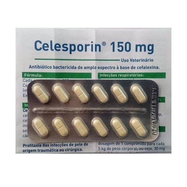 Antibiótico ourofino celesporin 150mg cartela avulsa com 12 comprimidos