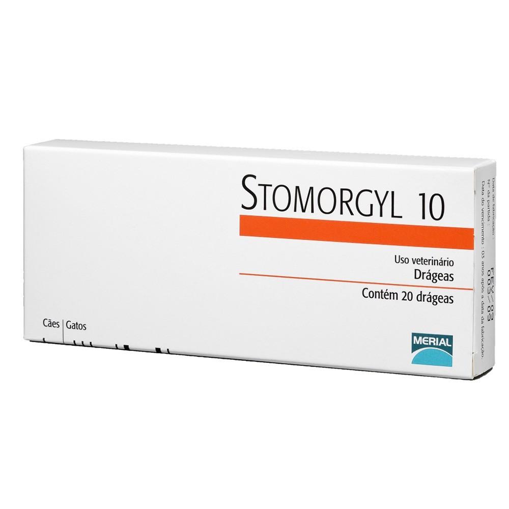 Antibiótico stomorgyl 10 para cães e gatos com 20 comprimidos