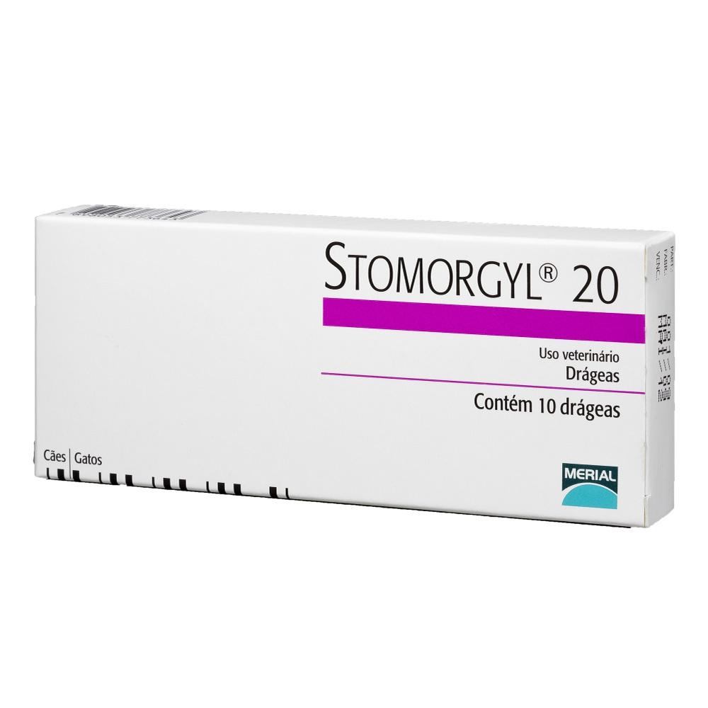 Antibiótico stomorgyl 20 para cães e gatos com 10 comprimidos