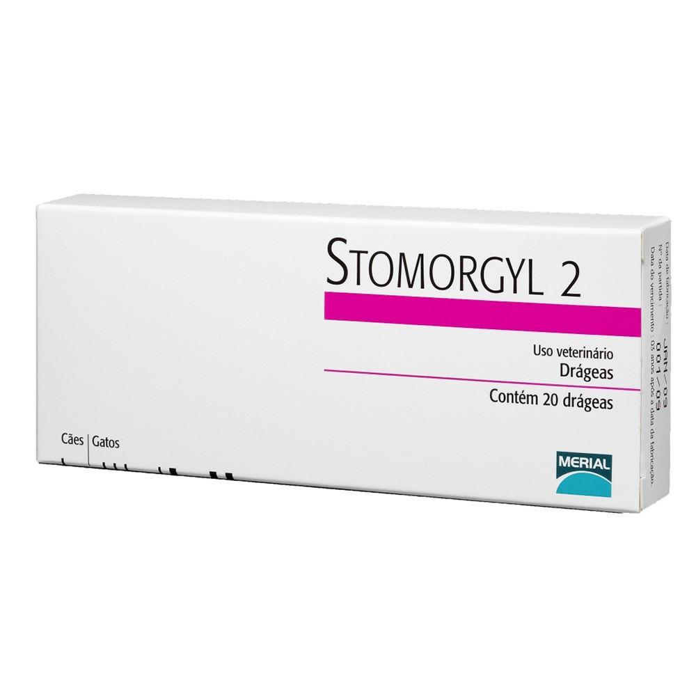 Antibiótico stomorgyl 2 para cães e gatos com 20 comprimidos