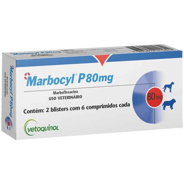 Antibiótico Vetoquinol Marbocyl P 80 mg para Cães de 35 a 50 Kg