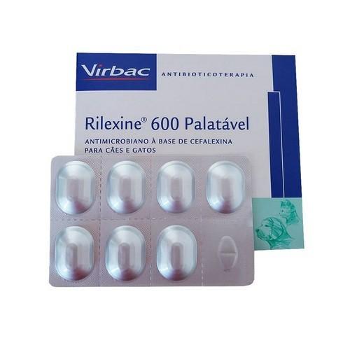 Antibiótico virbac rilexine 600 cartelado com 7 comprimidos