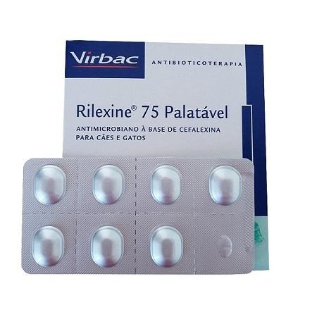 Antibiótico virbac rilexine 75 cartelado com 7 comprimidos
