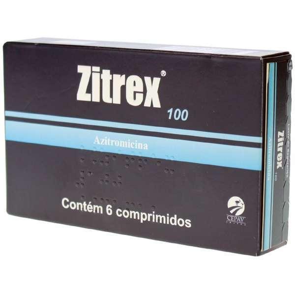 Antibiótico zitrex 100mg para cães e gatos com 6 comprimidos