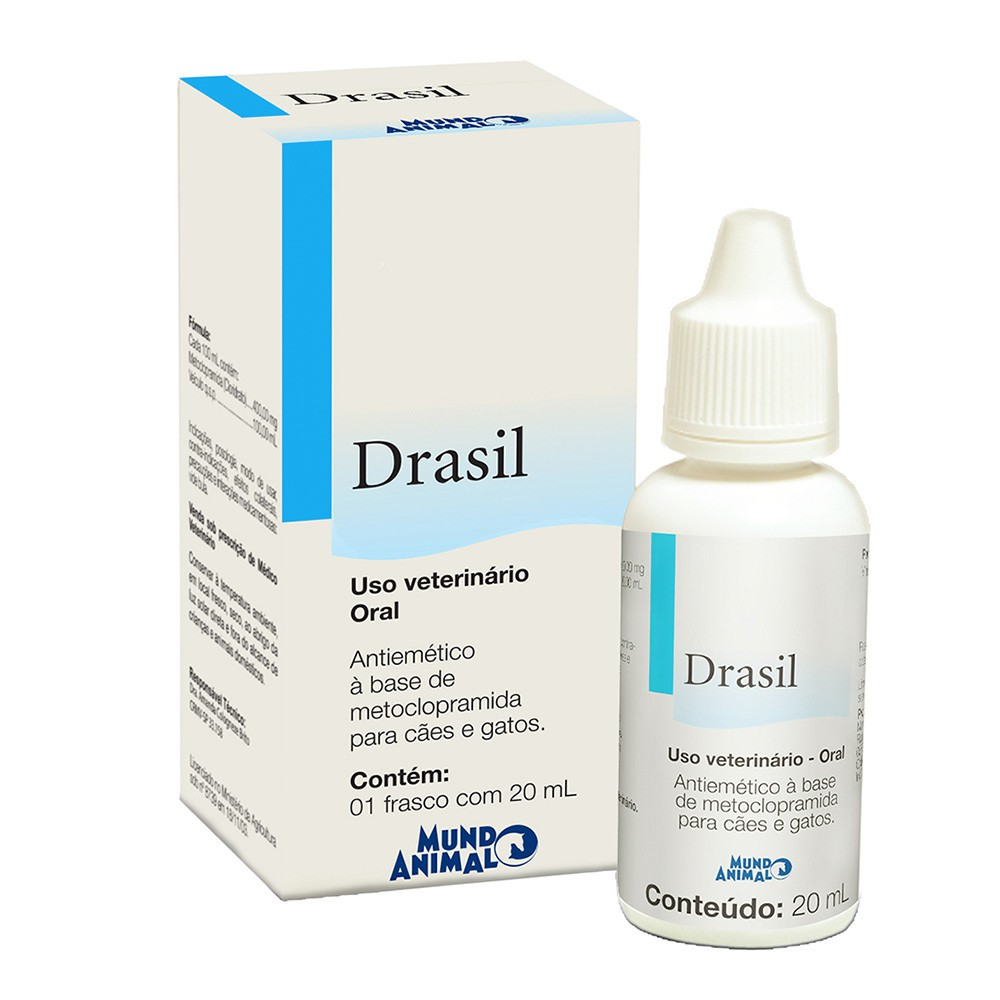 Antiemético mundo animal drasil para cães e gatos 20ml