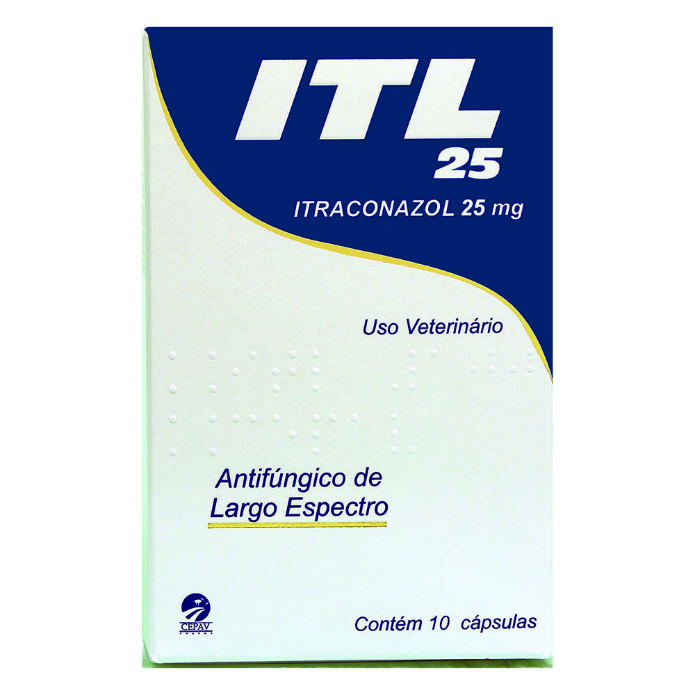 Antifúngico itl itraconazol 25mg com 10 cápsulas