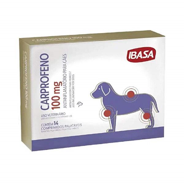 Antiinflamatório Carprofeno para Cães 100mg - Ibasa
