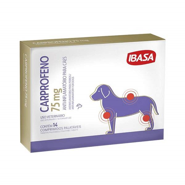 Antiinflamatório Carprofeno para Cães 75mg - Ibasa
