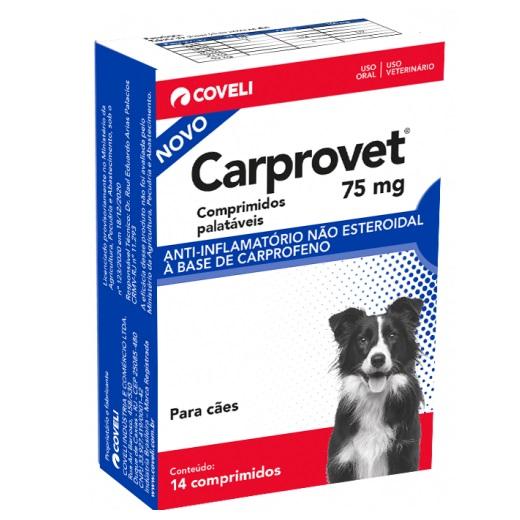 Anti-inflamatório Coveli Carprovet para Cães 75mg
