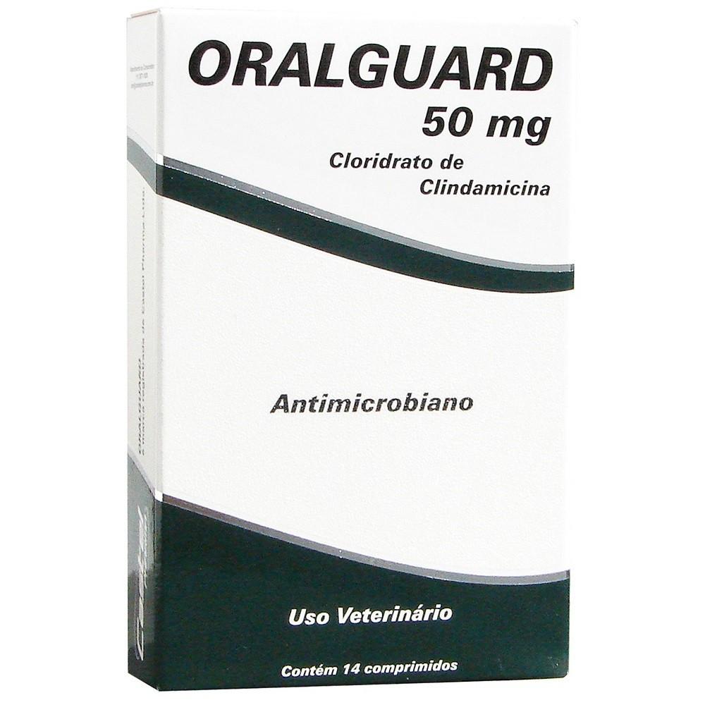 Antimicrobiano cepav oralguard  50mg para cães e gatos com 14 comprimidos