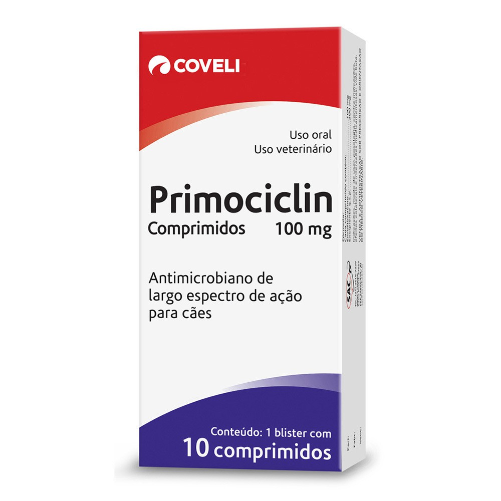 Antimicrobiano coveli primociclin 100mg