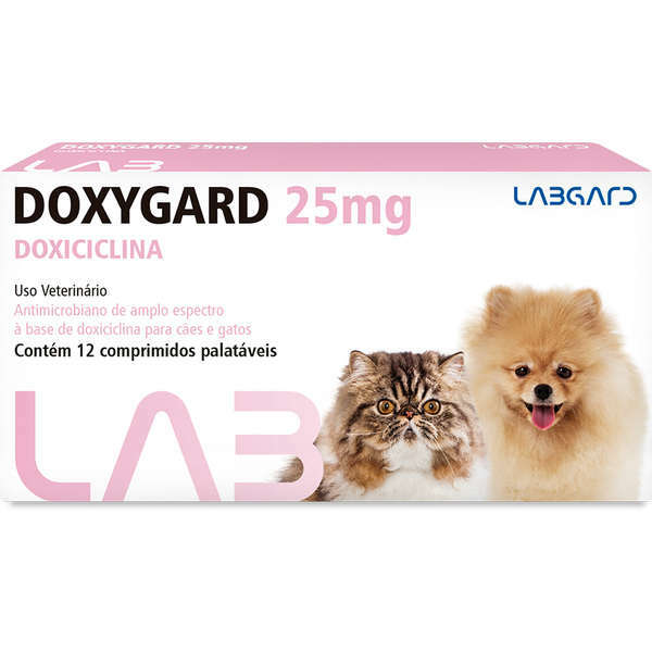 Antimicrobiano doxygard 25mg cartela avulsa com 12 comprimidos