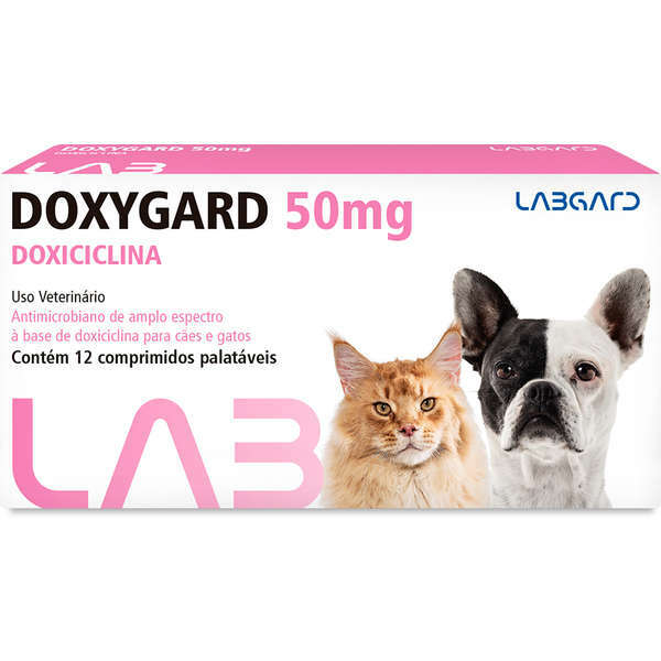 Antimicrobiano doxygard 50mg cartela avulsa com 12 comprimidos
