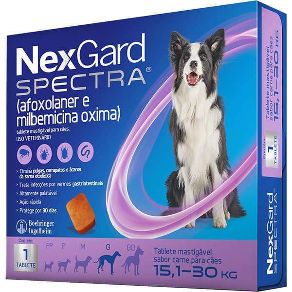 Antipulgas e Carrapatos NexGard Spectra para Cães de 15,1 a 30 Kg