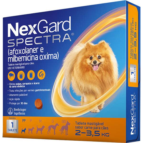 Antipulgas e Carrapatos NexGard Spectra para Cães de 2 a 3.5 Kg