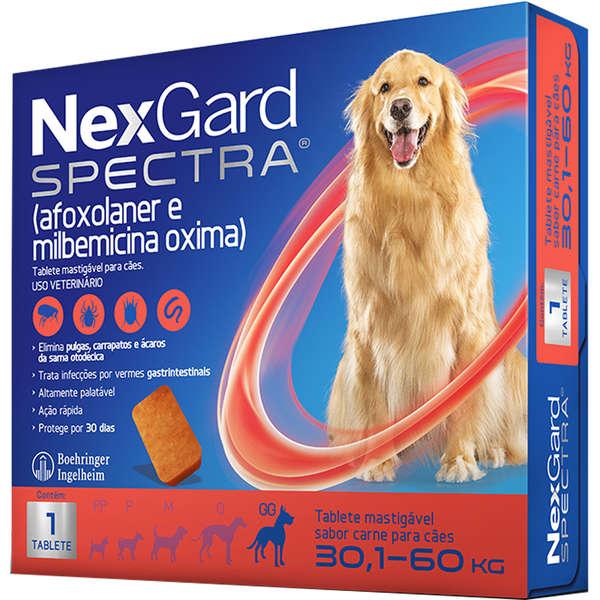 Antipulgas e Carrapatos NexGard Spectra para Cães de 30.1 a 60 Kg