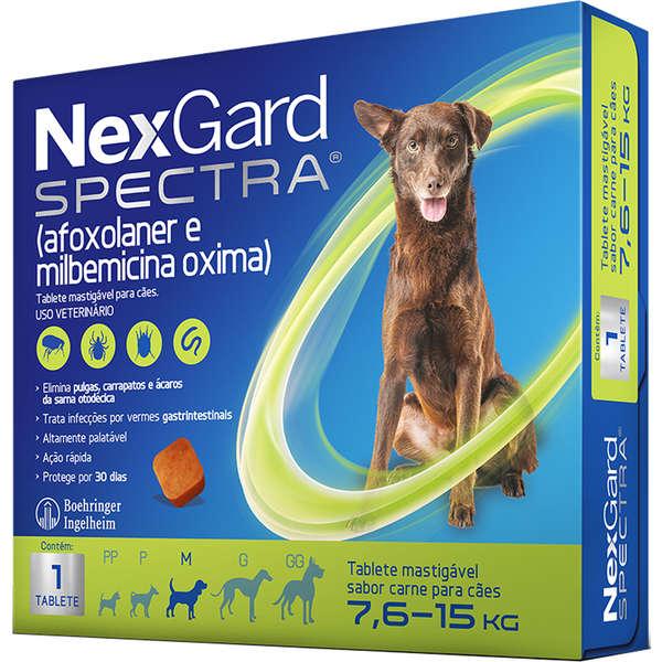 Antipulgas e Carrapatos NexGard Spectra para Cães de 7.6 a 15 Kg