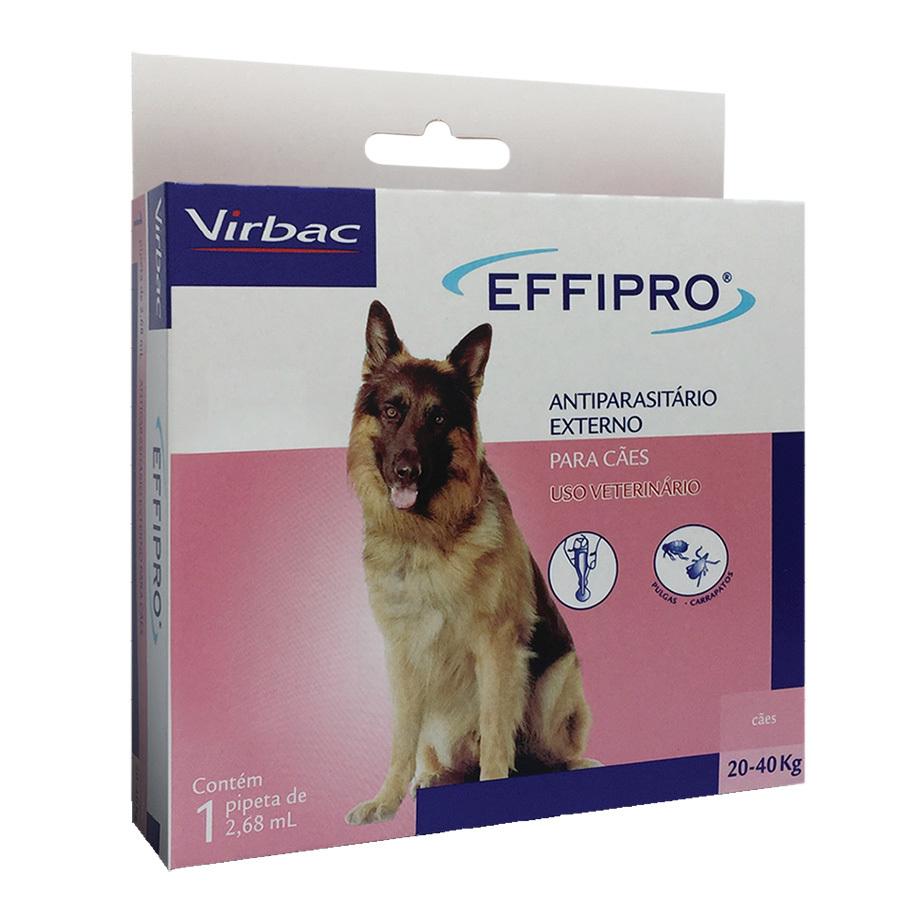 Antipulgas e carrapatos virbac effipro 2,68ml para cães de 20 até 40kg
