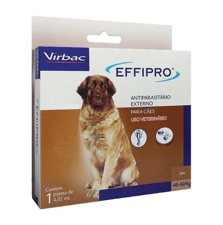 Antipulgas e carrapatos virbac effipro 4,02ml para cães de 40 até 60kg