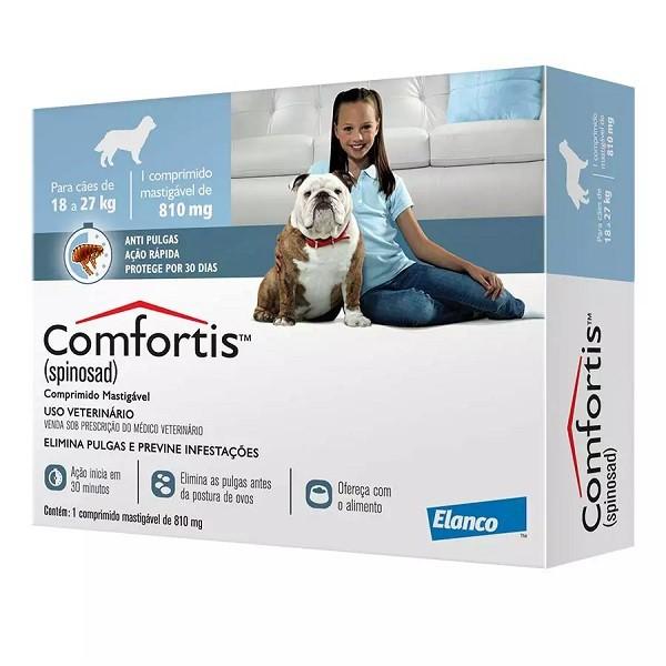 Antipulgas elanco comfortis 810mg para cães de 12 a 27kg