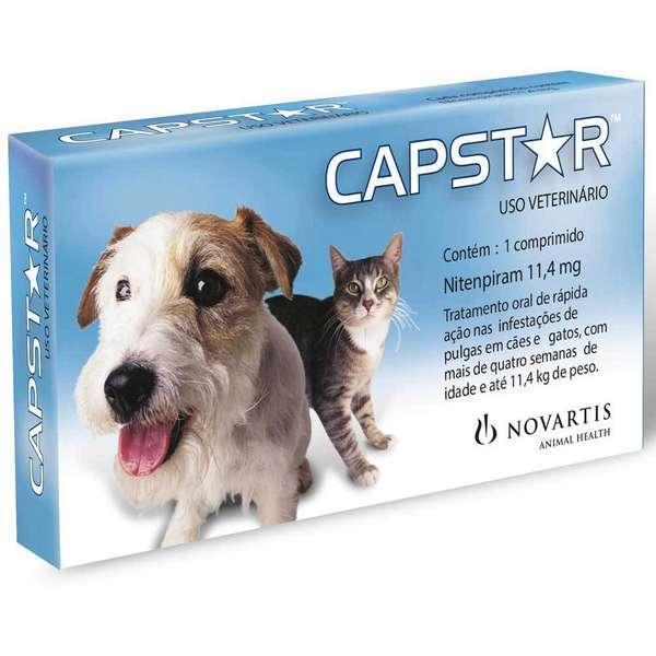 Antipulgas novartis capstar 11,4mg para cães e gatos até 11,4kg