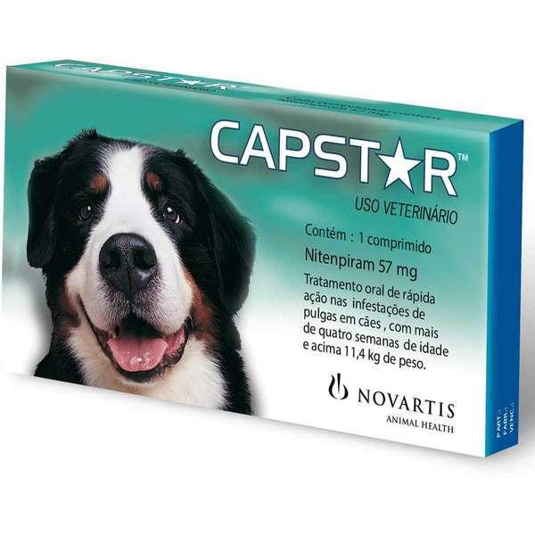 Antipulgas novartis capstar 57mg para cães acima de 11,4kg