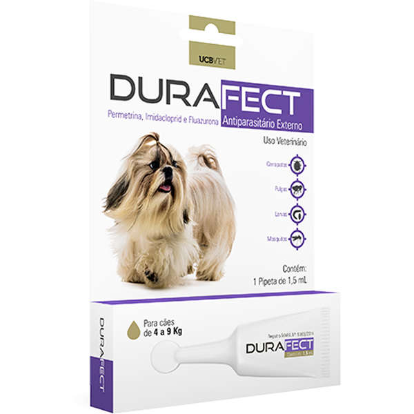 Antipulgas UCBVET Durafect 1,5ml para Cães de 4 a 9 Kg