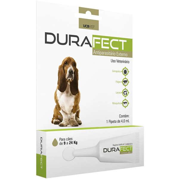 Antipulgas UCBVET Durafect 4ml para Cães até 9 a 24 Kg
