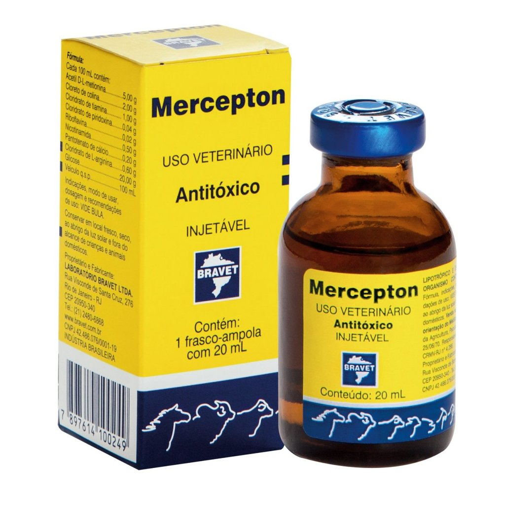 Antitóxico bravet mercepton injetável 20ml