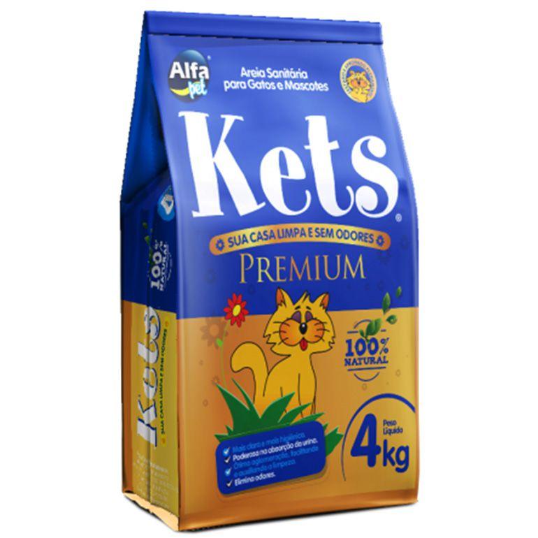 Areia Sanitária Kets Premium Natural