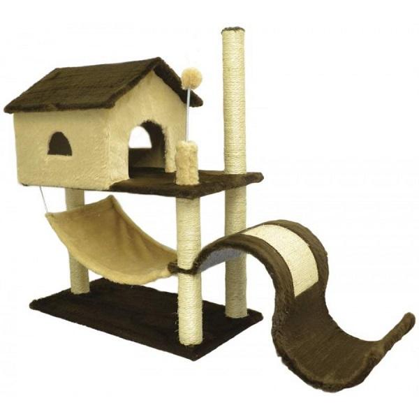 Arranhador house tobogã em pelúcia lisa ref 1861 at-31