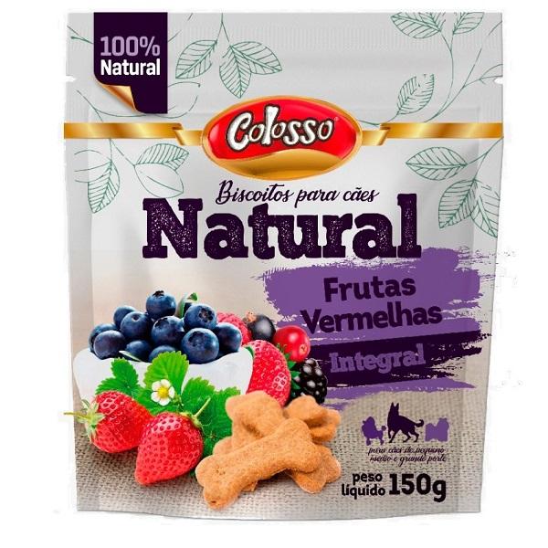 Biscoito natural colosso integral frutas vermelhas 150g