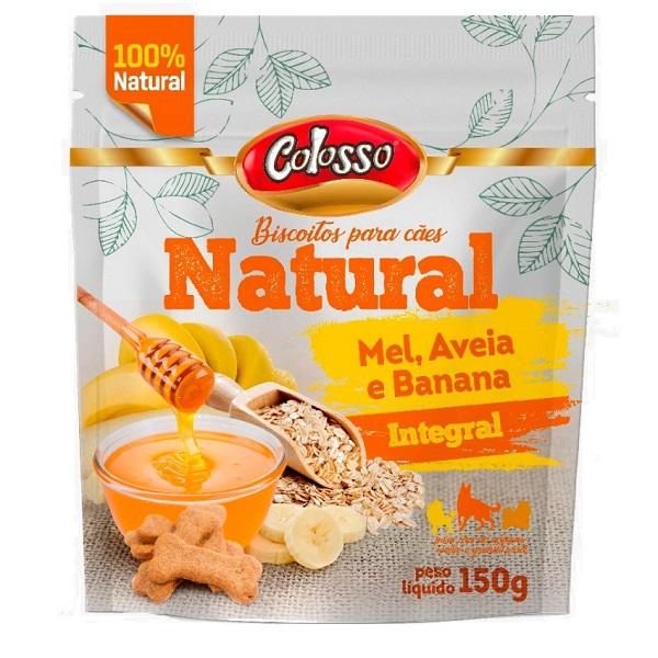 Biscoito natural colosso mel, aveia e banana 150g