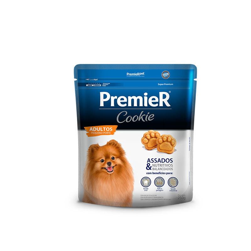 Biscoito premier cookie para cães adultos pequeno porte 250g