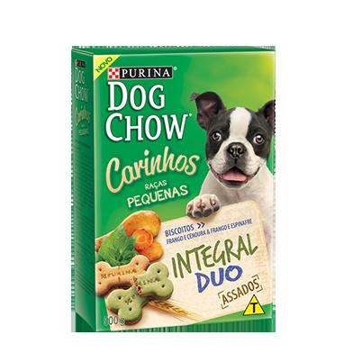 Biscoito purina dog chow carinhos integral duo raças pequenas 500g