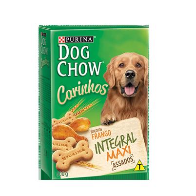 Biscoito purina dog chow carinhos integral maxi 500g