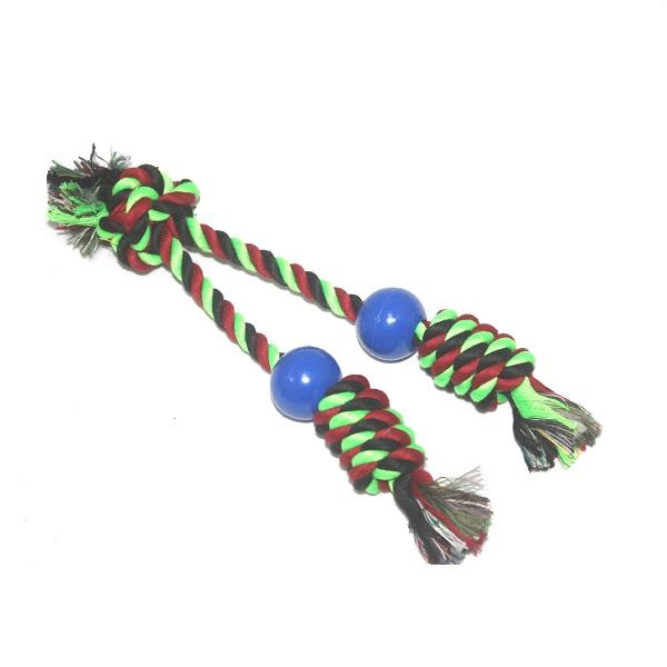 Brinquedo corda dupla com bolinha para pet