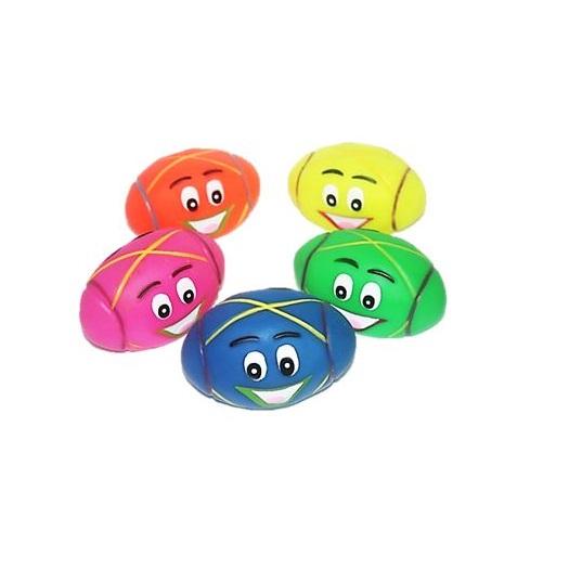 Brinquedo vinil bola oval feliz